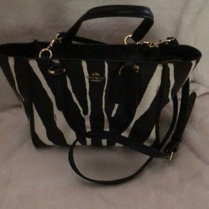 Coach Zebra Print Crossbody Handbag